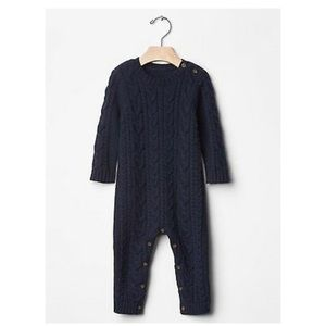 GAP Cable knit Navy unisex romper